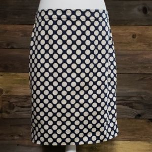 J. Crew The Pencil Skirt in Sateen Dot